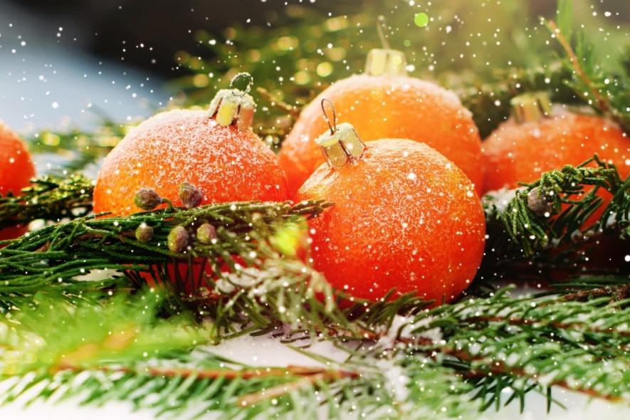 Мандариновый декор к Новому году