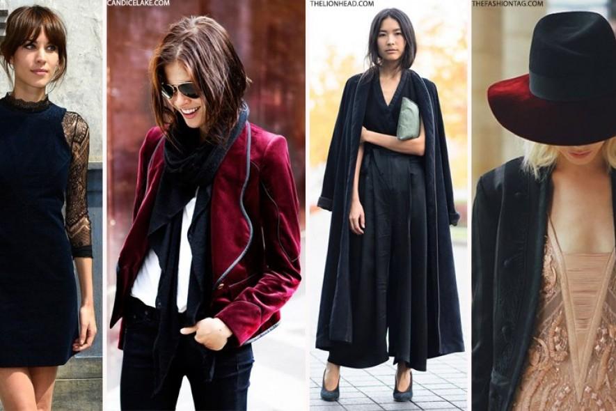 Бархат - модная тенденция 2016