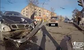 Тройное ДТП на Червоной в Кривом Роге | 1kr.ua