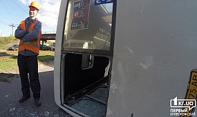 ДТП в Кривом Роге: перевернулась маршрутка с пассажирами   1kr.ua