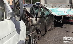 Масштабное ДТП в Кривом Роге: столкнулись четыре автомобиля
