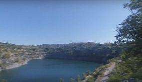 Кривой Рог. Водопад с карьером