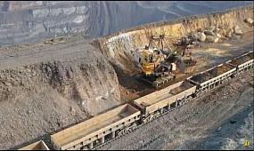 Карьер Кривого Рога. Добыча железной руды. Съемка с дрона Украина, Кривой Рог, 2020