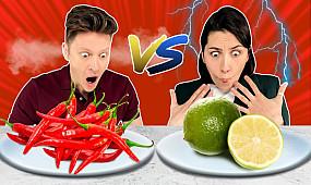 Острая еда vs Кислая еда | Люди Пробуют