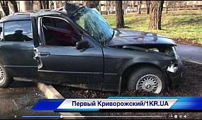 ДТП в Кривом Роге: BMW врезалось в дерево, пострадал водитель