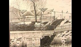 Мосты Кривого Рога в живописи