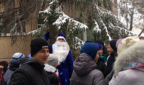 Велопробег Дедов Морозов Кривой Рог 2018 25.12