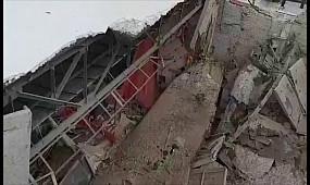 В Кривом Роге обвалилась крыша здания бывшего кинотеатра Современник