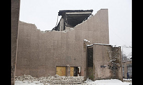 Происшествия: в Кривом Роге обвалилась крыша здания бывшего кинотеатра «Современник» | 1kr.ua