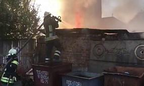 м. Кривий Ріг: вогнеборці ліквідували займання у неексплуатуємій споруді