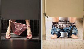 Вот почему двери в общественных туалетах не достигают пола