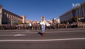 Гімн України під час святкування Дня незалежності 2019
