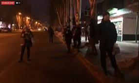 Криворожане вышли митинговать против повышения стоимости проезда