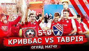 Огляд матчу ФК Кривбас - ФК Таврія. 5:0