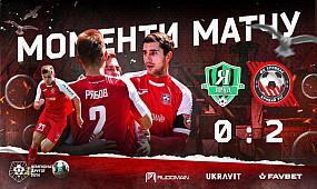 Моменти матчу ФК Яруд - ФК Кривбас 0:2